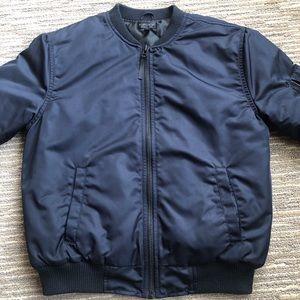 Top Shop Navy Bomber Jacket